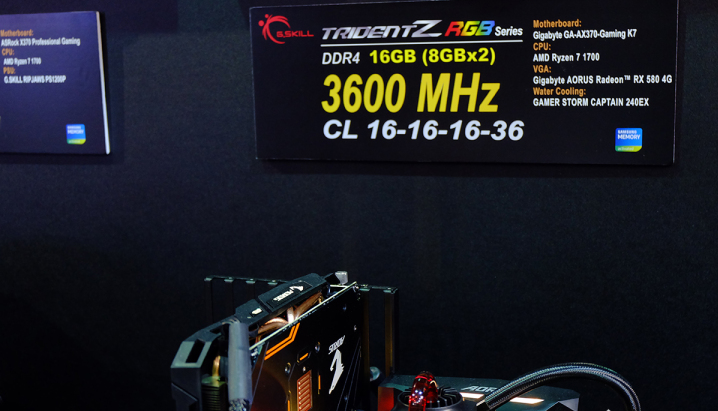 芝奇发布DDR4 4400MHz 内存