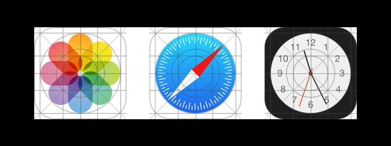 IOS 9 icon grid