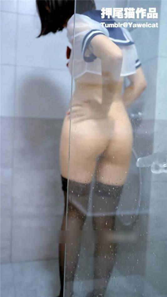 网红女神@押尾貓VIP版之湿身美少女 JK制服黑丝[1V/307MB]