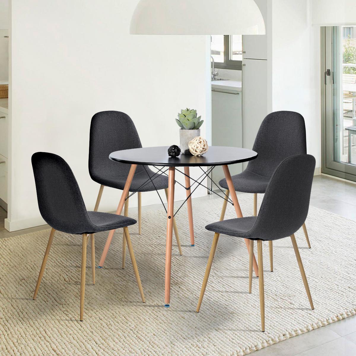 Table Pour Salle À Manger table salle à manger ronde noir 80cm - vente de urban meuble