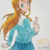 [彩铅手绘临摹]俺妹中的桐乃,年前的一幅手绘(临摹?)