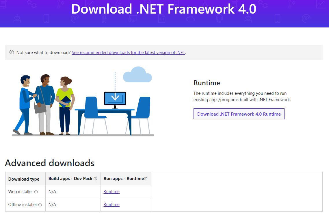 .NET Framework4.0下载页面